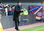 Hearts v St Johnstone...05.02.12.. Scottish Cup 5th Round.Steve Lomas encourages his players..Picture by Graeme Hart..Copyright Perthshire Picture Agency.Tel: 01738 623350  Mobile: 07990 594431