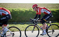 the unfortunate Stig Broeckx (BEL/Lotto-Soudal) would be overrun by a medical in-race moto in the finale of the race, sending him to hospital with a fractured collarbone, cracked rib and severe bruising to the right hand. The irony...<br /> <br /> Kuurne-Brussel-Kuurne 2016