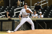 Salt River Rafters infielder Ryan Casteel (32) during an Arizona Fall League game against the Peoria Javelinas on October 17, 2014 at Salt River Fields at Talking Stick in Scottsdale, Arizona.  The game ended in a 3-3 tie.  (Mike Janes/Four Seam Images)