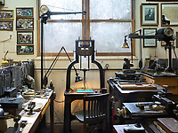 The workshop of the Dale Guild Foundry.