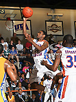 Texas-Arlington Mavericks guard Bryant Smith (24) in action during the game between the McNeese State Cowboys and the UTA Mavericks held at the University of Texas at Arlington's, Texas Hall, in Arlington, Texas.  McNeese State defeats UTA 81 to 72.