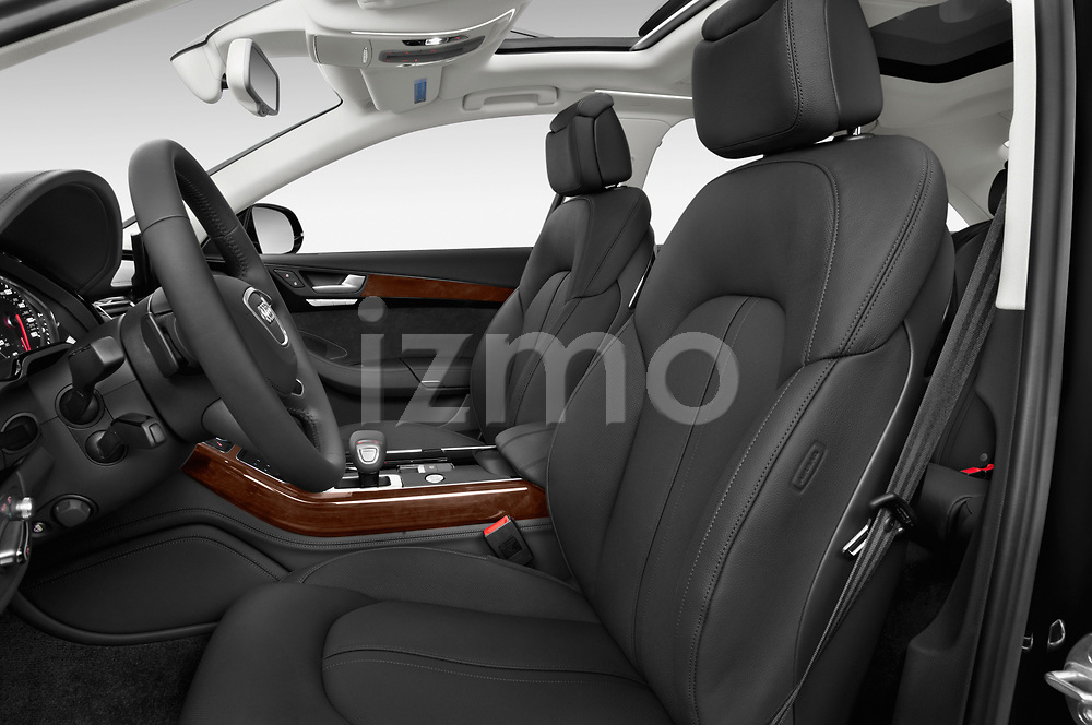 Front seat view of 2017 Audi A8 3.0T LWB quattro tiptronic 4 Door Sedan front seat car photos