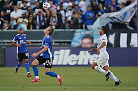 SAN JOSE, CA - JUNE 26: Jackson Yueill #14 of the San Jose Earthquakes during a game between Los Angeles Galaxy and San Jose Earthquakes at PayPal Park on June 26, 2021 in San Jose, California.