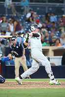 Steven Williams (24) of the East Team bats against the West Team during the Perfect Game All American Classic at Petco Park on August 14, 2016 in San Diego, California. West Team defeated the East Team, 13-0. (Larry Goren/Four Seam Images)