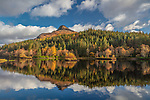 Glencoe, Scotland: Glencoe Lochan with fall reflections and the Pap in the distance