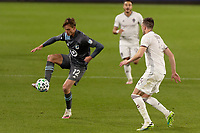 ST PAUL, MN - OCTOBER 28: Aaron Schoenfeld #12 of Minnesota United FC controls the ball during a game between Colorado Rapids and Minnesota United FC at Allianz Field on October 28, 2020 in St Paul, Minnesota.