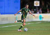 LAKE BUENA VISTA, FL - JULY 18: Diego Valeri #8 of the Portland Timbers cuts the ball during a game between Houston Dynamo and Portland Timbers at ESPN Wide World of Sports on July 18, 2020 in Lake Buena Vista, Florida.