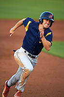State College Spikes outfielder Michael Pritchard (5) running the bases during a game against the Auburn Doubledays on July 6, 2015 at Falcon Park in Auburn, New York.  State College defeated Auburn 9-7.  (Mike Janes/Four Seam Images)