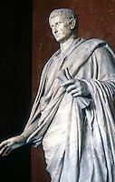 Greek Art:  Augustus.  Marble statue--2nd Century.  Louvre.