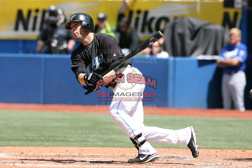 May 25th 2008:  Shortstop Marco Scutaro (19) of the Toronto Blue Jays during a game at the Rogers Centre in Toronto, Ontario, Canada .  Photo by:  Mike Janes/Four Seam Images