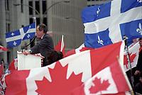 La campagne du NON durant le referendum de 1995 - Daniel Johnson<br /> <br /> PHOTO : Agence Quebec Presse -<br /> MK