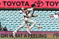 10th January 2021; Sydney Cricket Ground, Sydney, New South Wales, Australia; International Test Cricket, Third Test Day Four, Australia versus India; Mitchell Starc of Australia during his bowling run up