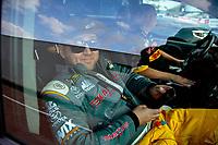 Apr 12, 2019; Baytown, TX, USA; NHRA top fuel driver Richie Crampton during qualifying for the Springnationals at Houston Raceway Park. Mandatory Credit: Mark J. Rebilas-USA TODAY Sports