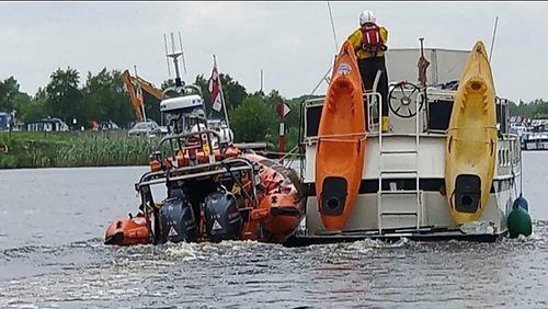 The cruiser was towed off the rocks and following inspection towed to Barley Harbour