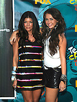 Fergie and Miley Cyrus at the Teen Choice 2009 Awards at Gibson Amphitheatre in Universal City, August 9th 2009..Photo by Chris Walter/Photofeatures