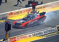 Jul 30, 2017; Sonoma, CA, USA; NHRA funny car driver Cruz Pedregon during the Sonoma Nationals at Sonoma Raceway. Mandatory Credit: Mark J. Rebilas-USA TODAY Sports