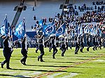 Penn State Nittany Lions band members in action during the Ticket City Bowl game between the Penn State Nittany Lions and the University of Houston Cougars, played at the Cotton Bowl Stadium in Dallas, Texas. Houston defeats Penn State 30 to 14.