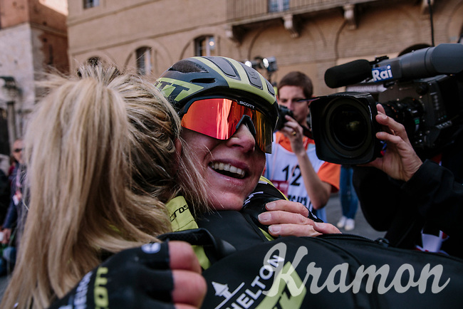 Annemiek Van Vleuten (NED/Mitchelton-Scott) wins the 5th Strade Bianche WE (1.WWT)<br /> One day race from Siena to Siena (136km)<br /> <br /> ©JojoHarper for kramon