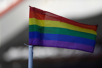 A Rainbow corner flag during AFC Bournemouth vs Huddersfield Town, Sky Bet EFL Championship Football at the Vitality Stadium on 12th December 2020