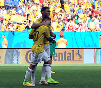 BRASILIA - BRASIL -19-06-2014. Juan Quintero (#20) jugador de Colombia (COL) celebra un gol anotado a Costa de Marfil (CIV) durante partido del Grupo C de la Copa Mundial de la FIFA Brasil 2014 jugado en el estadio Mané Garricha de Brasilia./ Juan Quintero (#20) player of Colombia (COL) celebrates a goal scored to Ivory Coast (CIV) during the macth of the Group C of the 2014 FIFA World Cup Brazil played at Mane Garricha stadium in Brasilia. Photo: VizzorImage / Alfredo Gutiérrez / Contribuidor