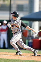 February 21, 2009:  Second baseman Justin Toole (2) of the University of Iowa during the Big East-Big Ten Challenge at Jack Russell Stadium in Clearwater, FL.  Photo by:  Mike Janes/Four Seam Images