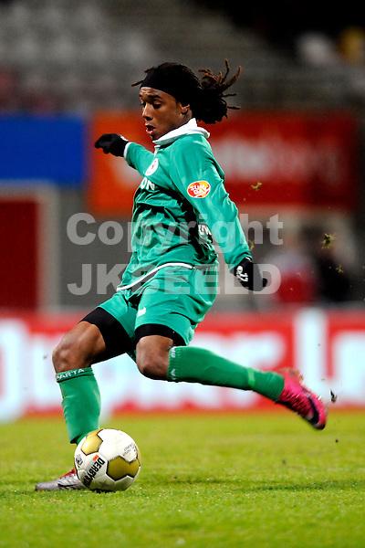 EMMEN - FC Emmen - Sparta, Jupiler League, Unive stadion,  seizoen 2010-2011, 21-01-2011 Lerin Duarte van Sparta.