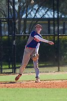 Andrew LaPrade (3) of Rustburg, Virginia during the Baseball Factory All-America Pre-Season Rookie Tournament, powered by Under Armour, on January 14, 2018 at Lake Myrtle Sports Complex in Auburndale, Florida.  (Michael Johnson/Four Seam Images)
