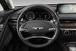 Car pictures of steering wheel view of a 2021 Genesis G80 - 4 Door Sedan Steering Wheel