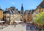 The principal square of Sarlat-la-Canéda, a large town in the Dordogne region.