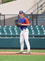 Bartow Yellow Jackets first baseman Jonathan Vastine (9) during the 42nd Annual FACA All-Star Baseball Classic on June 6, 2021 at Joker Marchant Stadium in Lakeland, Florida.  (Mike Janes/Four Seam Images)