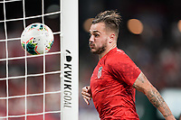 St. Louis, MO - SEPTEMBER 10: Jordan Morris #11 of the United States scores his goal during their game versus Uruguay at Busch Stadium, on September 10, 2019 in St. Louis, MO.