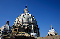 Domes of St Peter's Basilica, Vatican City, Rome, Italy.