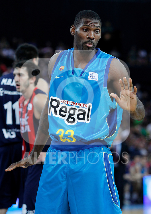FC Barcelona Regal's Pete Mickeal during Supercopa ACB Final match.October 1,2011. (ALTERPHOTOS/Acero)
