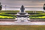 Pineapple Fountain Charleston South Carolina Waterfront Park High Dynamic Range HDR