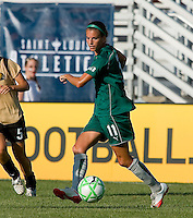 Saint Louis Athletica forward Angie Woznuk (11) during a WPS match at Anheuser-Busch Soccer Park, in St. Louis, MO, July 26, 2009.  The match ended in a 1-1 tie.