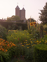 This 'room' in the garden at Sissinghurst features a predominance of yellow flowering plants