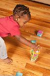 17 month old toddler boy stacking  blocks