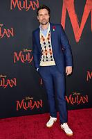 "LOS ANGELES, CA: 09, 2020: Brett Dalton at the world premiere of Disney's ""Mulan"" at the El Capitan Theatre.<br /> Picture: Paul Smith/Featureflash"