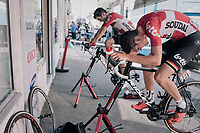 Tiesj Benoot (BEL/Lotto-Soudal) & Tony Gallopin (FRA/Lotto-Soudal) warming down after the stage<br /> <br /> 104th Tour de France 2017<br /> Stage 16 - Le Puy-en-Velay › Romans-sur-Isère (165km)