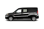 Car Driver side profile view of a 2018 Ram Promaster-City SLT-Wagon 5 Door Mini MPV Side View