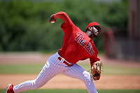 GCL Phillies West pitcher Dalvin Rosario (68) during a Gulf Coast League game against the GCL Yankees East on August 3, 2019 at the Carpenter Complex in Clearwater, Florida.  The GCL Yankees East defeated the GCL Phillies West 4-0, the second game of a doubleheader.  (Mike Janes/Four Seam Images)