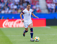 PARIS,  - JUNE 16: Ali Krieger #11 dribbles during a game between Chile and USWNT at Parc des Princes on June 16, 2019 in Paris, France.