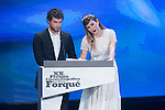 Alvaro Cervantes and Blanca Suarez at the Jose Maria Forque Awards in Madrid, Spain. January 12 2015. (ALTERPHOTOS/Carlos Dafonte)