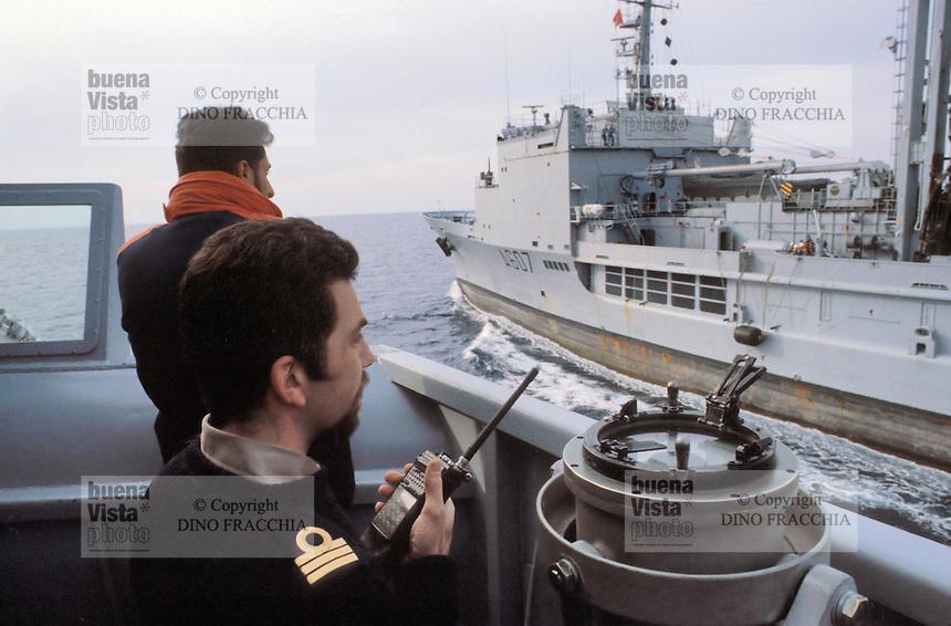 - the Meuse refueling ship of French Navy during NATO exercises in  Mediterranean sea....- la nave da rifornimento Meuse della Marina Francese durante esercitazioni NATO nel mar Mediterraneo