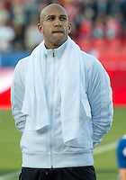 03 June 2012: US Men's National Soccer Team goalkeeper Tim Howard #1during the opening ceremonies in an international friendly  match between the United States Men's National Soccer Team and the Canadian Men's National Soccer Team at BMO Field in Toronto..The game ended in 0-0 draw..