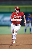 GCL Phillies third baseman Danny Zardon (23) running the bases during a game against the GCL Blue Jays on August 16, 2016 at Bright House Field in Clearwater, Florida.  GCL Blue Jays defeated GCL Phillies 2-1.  (Mike Janes/Four Seam Images)