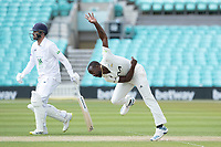 Kemar Roach, Surrey CCC took 3-16 from 8 overs prior to lunch on day 3 during Surrey CCC vs Hampshire CCC, LV Insurance County Championship Group 2 Cricket at the Kia Oval on 1st May 2021