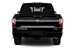 Straight rear view of 2020 Nissan Titan SV 4 Door Pick-up Rear View  stock images