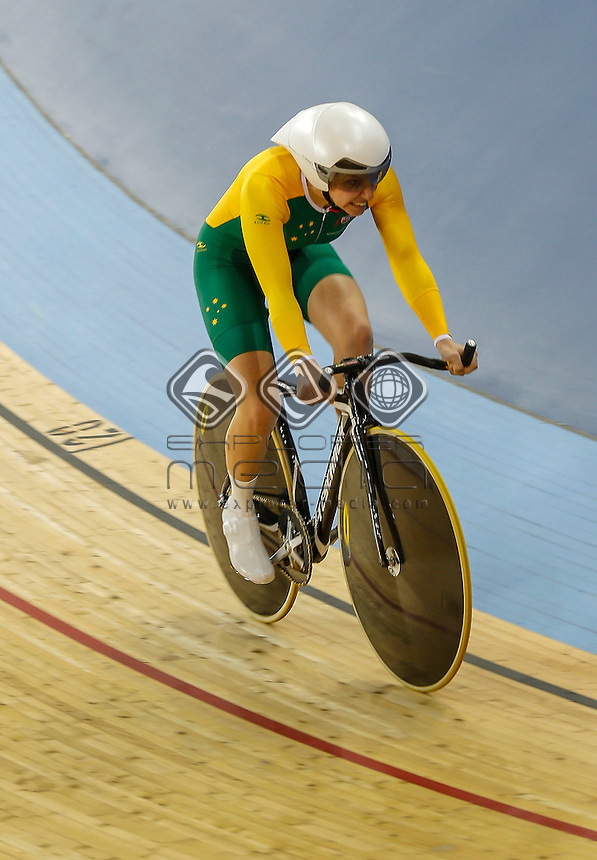 Jayme Paris (AUS) claims bronze in the Women's Individual C1-2-3 500m Time Trial, Track Cycling (Sat 1 Sep) - Velodrome,Paralympics - Summer / London 2012, London, England 29 Aug - 9 Sept , © Sport the library/Greg Smith