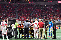 Atlanta, Georgia - Sunday, May 20, 2018: New York Red Bulls defeated 10-man Atlanta United, 3-1, in front of a crowd of 45,089 at Mercedes-Benz Stadium.